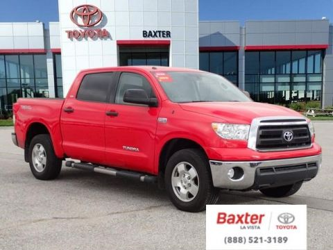 Pre-Owned 2010 Toyota Tundra 4WD Truck CrewMax 5.7L FFV V8 6-Spd AT